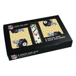 Pittsburgh Steelers 2 Pack of Cards with Dice Sports