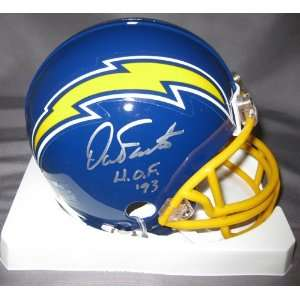 Dan Fouts San Diego Chargers NFL Hand Signed Mini Throwback Football