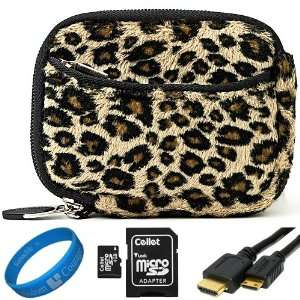 Brown Leopard Print Design Fur Covered Neoprene Sleeve
