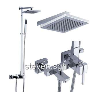 Chrome Wall Mounted Rain Shower Faucet Set JD 1511