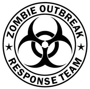 Zombie Outbreak Response Team Vinyl Sticker Decal 5.5