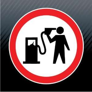 Fuel Gas Pump Head Gun Game Over Warning Caution Funny