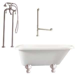 BN Augusta Floor Mounted Faucet Package Soaking Tub