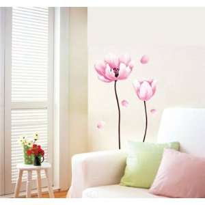 Modern House Perfect Stem Pink Flower II removable Vinyl