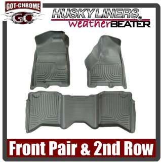 Floor Liners Dodge Ram Crew Cab 2009 2011 Grey 753933980023