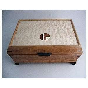 Handmade wooden jewelry box   cherry wood with legs