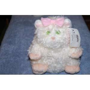 Gund FUZZBALL THE FAT WHITE CAT 6 Plush Stuffed Animal
