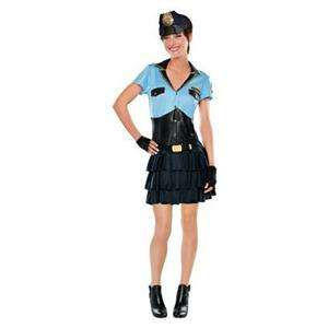 Police Officer Woman Adult Costume Cop Halloween L 12 14