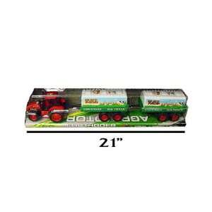 24 Toy Farm Tractor & Trailer Sets