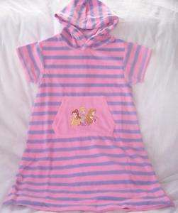 NEW 2T 3T Disney Princess Cinderella Cover Up Pink Hood