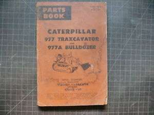 CAT Caterpillar 977 Traxcavator Parts Manual Book Shop