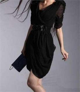 Sexy New Stylish Womens Elegant Chiffon Skirt Mini Dress #4019