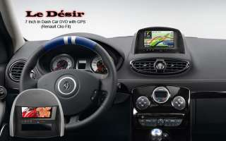 Le Désir 7 Inch In Dash Car DVD with GPS Renault Clio Fit NEW