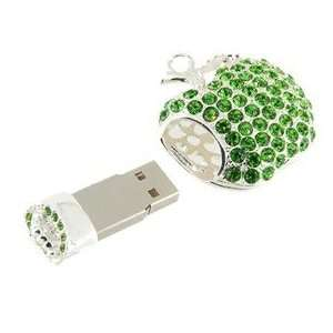 Funny 2GB Apple Shape USB Flash Drive with Rhinestone