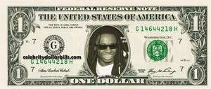 LIL WAYNE RAP HIP HOP CELEBRITY DOLLAR BILL SET/4 UNCIRCULATED MINT US