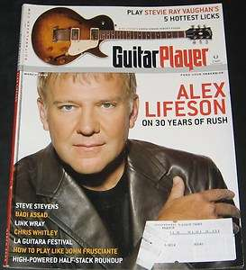 Guitar Player Magazine March 2006 Alex Lifeson