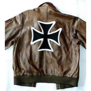9.6 x 9.6 Iron Cross Biker Clothing Vest Jacket Shirt