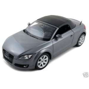 Audi TT Roadster Diecast Car Model 1/18 Grey Soft Top Die