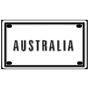 Australia 2 1/4 X 4 Aluminum Die cut Sign Arts, Crafts