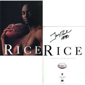 Jerry Rice Autographed/Hand Signed Jerry Rice Book Sports