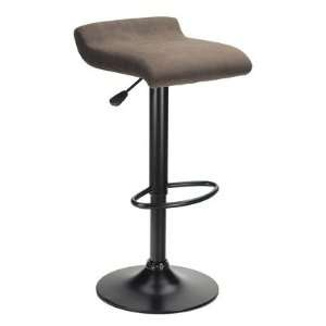 Marni Air Lift Stool, Micro Fiber Seat Top, Black And Stsain Finish By