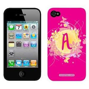Funky Floral A on AT&T iPhone 4 Case by Coveroo