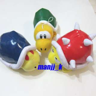 NEW Super Mario Doll Spiny,Buzzy Beetle & Koopa Troopa