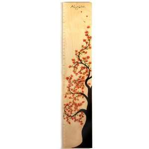 Personalized Cherry Blossom Tree of Life Wooden Growth Chart Baby
