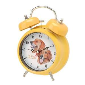 Golden Retriever Double Bell Dog Alarm Clock