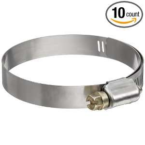 Murray Series Stainless Steel Worm Gear Hose Clamp, Steel Screw, 2.06