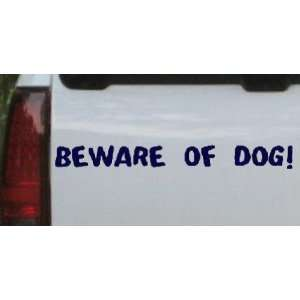 Navy 44in X 5.0in    BEWARE OF DOG Decal Animals Car Window Wall