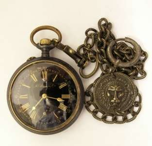 RARE SS GUN METAL POCKET WATCH H.MOSER&CO