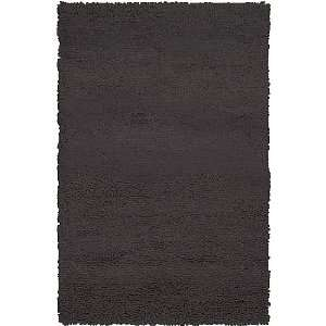 5 x 8 Berme Espresso Brown Wool Shag Area Throw Rug