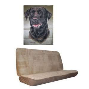 Car Truck SUV Chocolate Lab Dog Print Rear Bench or Small