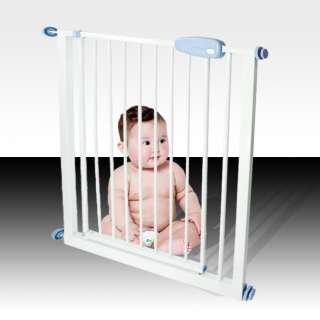 Wide Metal Gate Baby Child Pet Dog Door Safety Barrier Fence