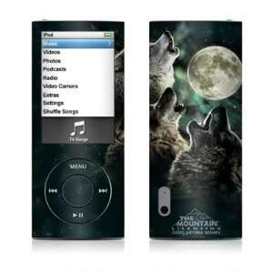 Three Wolf Moon Design Decal Sticker for Apple iPod Nano