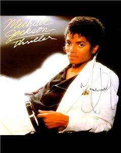 Michael Jackson signed Thriller Album reprint RP