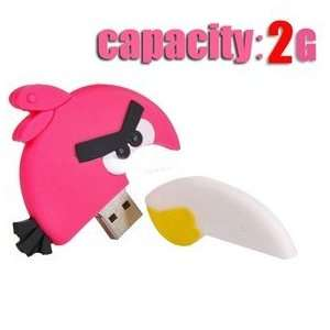 Cute 2GB Angry Birds USB Flash Drive Flash Memory U Disk