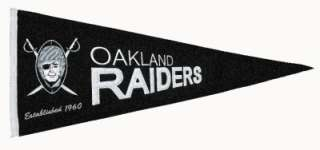Oakland Raiders NFL Throwback Wool Banner Pennant, NEW