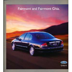 2000 2001 Ford Fairmont Australian Original Sales Brochure