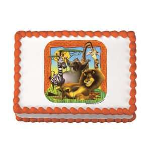 Madagascar Edible Cake Image Birthday Party NIP