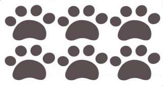 Puppy Dog Paw Emblem Room Floor Vinyl Decal Sticker DIY Car Wall Home