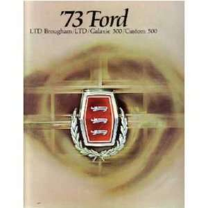 1973 FORD GALAXIE LTD Sales Brochure Literature Book