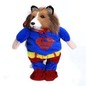 Pet Dog Apparel Superman Outfit Costume   Size M