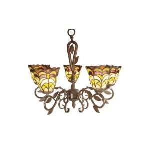 Dale Tiffany TH100934 Tattersall Hanging Light, Chocolate