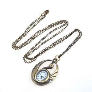 NEEWER® Bronzy swan pocket watch necklace pendant Sports