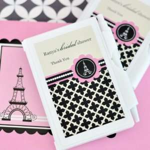 Parisian Party Themed Personalized Notebook Favors Health