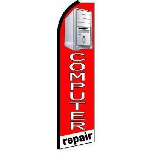 Computer Repair R/W Extra Wide Swooper Feather Business