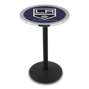 36 LA Kings Counter Height Pub Table   Round Base Sports
