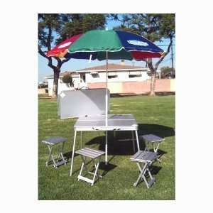GIFT WRAP INCLUDED OASIS HEAVY DUTY Aluminum 4 Person Table & Chairs